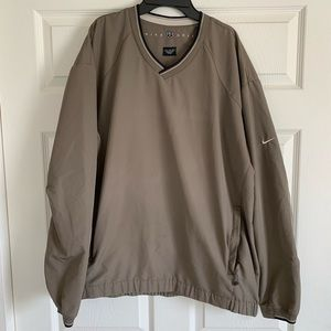 Nike Golf Pullover Windbreaker Tan Jacket XL